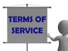 Terms of Service notice